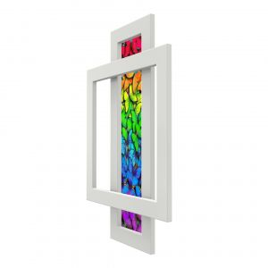Calorifer decorativ colorat 600/900 mm COMBI GLASS 1